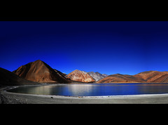 Pangong Tso or Pangongtso Lake in Ladakh (Anoop Negi) Tags: china portrait india lake water photography one for photo media image photos delhi indian bangalore creative images best tibet number po destination tso mumbai saline anoop ladakh negi pangong brackish pangongtso newvision photosof lukung ezee123 imagesof thangtse jjournalism peregrino27newvision