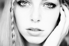 (Noukka Signe) Tags: portrait bw white black girl monochrome eyes lashes signe noukka
