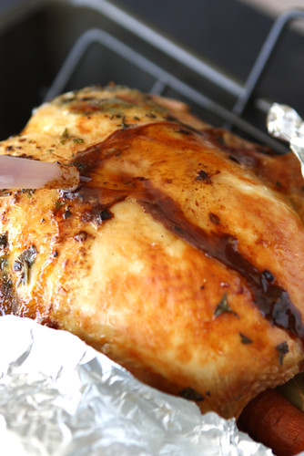 ... ' Canuck - Roasted Turkey with Herb Butter & Roasted Shallots Recipe