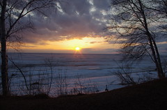 Confide (Bahar D Photography) Tags: trees cloud sun lake beach nature clouds sunsets grand manitoba sunrises storms setting