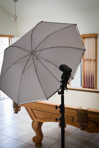 Umbrella, adapter and stand.
