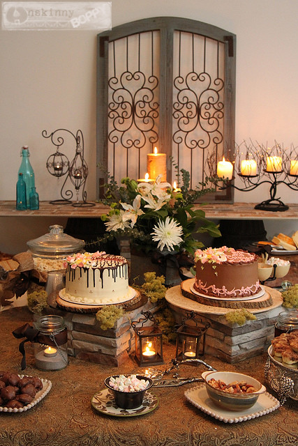 using height in table decor thanksgiving centerpiece shower
