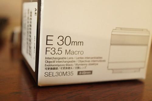 Sony NEX Macro lens