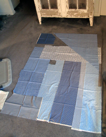 Stash Quilt - checking how big I can get it