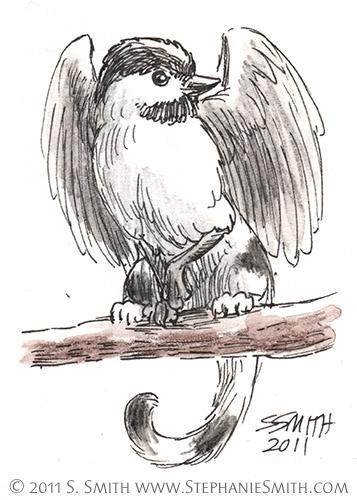 Tiny Griffons ATC #8 Chickadee