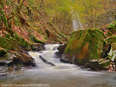 Melin Court Brook - Neath Valley (Daveyboy_75) Tags: autumn water southwales river waterfall stream olympus rapids autumncolours boulders waterfalls hdr afon e420 resolven neathvalley melincourt melincourtwaterfall afonnedd neathandporttalbot melincourtfalls melincourtbrook