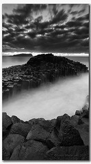 The Rock (danishpm) Tags: ocean longexposure blackandwhite seascape monochrome clouds sunrise rocks australia wideangle nsw aussie aus 1020mm manfrotto longexposures fingal sigmalens northernnsw fingalheads basaltrocks tweedshire sorenmartensen tweedarea