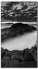 The Rock (danishpm) Tags: ocean longexposure blackandwhite seascape monochrome clouds sunrise rocks australia wideangle nsw aussie aus 1020mm manfrotto longexposures fingal sigmalens northernnsw fingalheads basaltrocks tweedshire sorenmartensen tweedarea