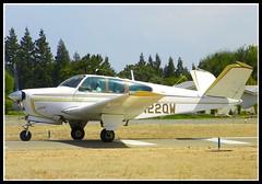 Beech Bonanza (Dusty_73) Tags: park sky classic vintage airplane flying airport aircraft aviation tail flight sierra v fresno beechcraft 35 beech airfield bonanza s35