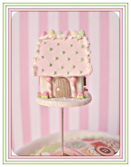 buttermint gables pin topper (Pinks & Needles (used to be Gigi & Big Red)) Tags: quilt sewing craft sew pincushion etsy gingerbreadhouse gigiminor pinksandneedles pintoppers pintopper sewingpin