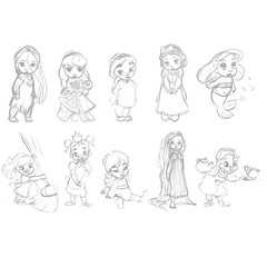 Disney Animators' Collection Sketches (Madambrightside) Tags: ariel doll jasmine aurora belle cinderella tiana aladdin snowwhite rapunzel sleepingbeauty pocahontas beautyandthebeast tangled mulan disneyprincess thelittlemermaid theprincessandthefrog disneyshoppingcomreconstructions
