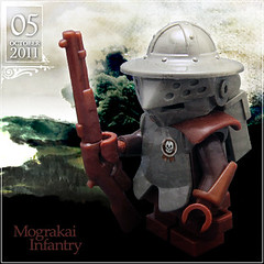 October 05 - Mograkai Infantry (Morgan190) Tags: halloween infantry scary october advent calendar lego little rifle helmet creepy armor short minifig minifigs custom armored m19 minifigure musket 2011 brickforge morgan19 morgan190 mograkai brickwarriors