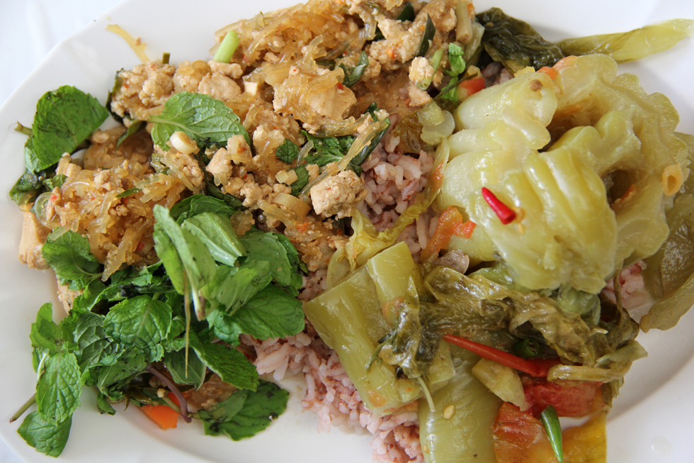5. Larb Woon Sen and Bitter Melon