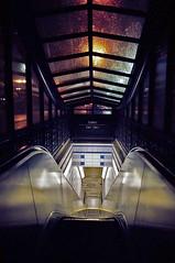 Chicago Subway (Vichar Photography) Tags: street leica city travel urban usa chicago colour film night underground subway cities lifestyle 35mmfilm transportation transit analogue colourfilm