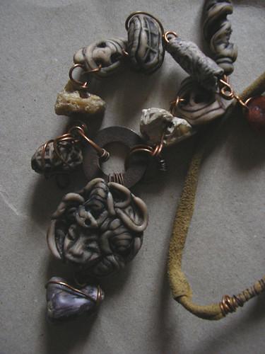 Necklace Primitive Tribal polymer