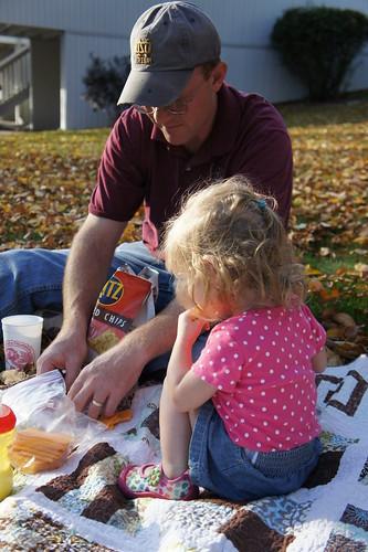a fall picnic