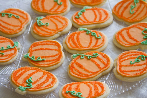 Decorated Pumpkin Cookies - 3
