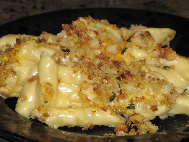 Mac and Cheese with homemade bread crumbs