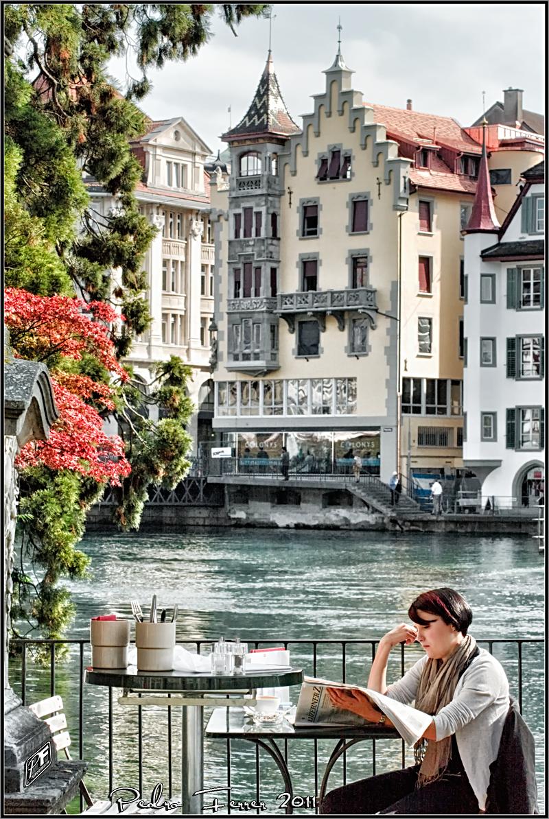 Switzerland -  Cofee break in Luzern