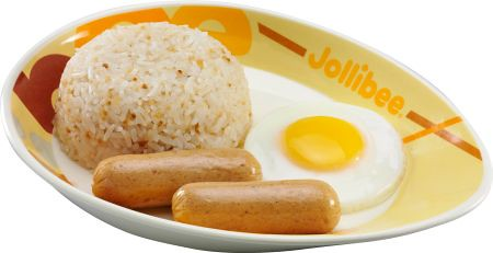 Jollibee Breakfast Joy meal - Chicken Sausage with Rice and Egg