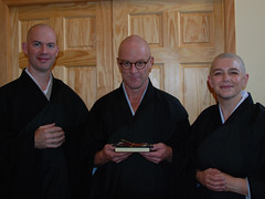 Ordination ceremony: Keizan, Nyozan, & Eishin