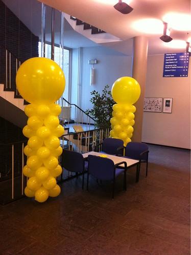 Ballonpilaar Breed Rond Geel TU Delft