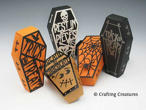 die cut coffin treat boxes