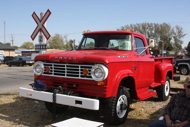 red classic truck canadian 1967 dodge fargo powerwagon w300