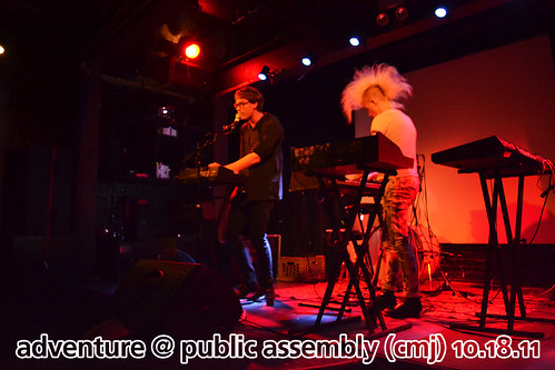Adventure at Public Assembly, CMJ, October 18, 2011