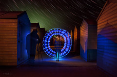 Ghost (Ben Heine) Tags: uk longexposure blue light england orange lightpainting art lamp colors girl silhouette contrast stars photography death sussex vanishingpoint seaside scary model colorful experimental photographer play magic fear ghost perspective creative experiment surreal orb bleu digitalpainting study hut ciel experience saturation photoediting laser nightmare hastings orbe universe discovery symphony aura collaboration inaction ether fantme cabane toiles dcouverte afterlife junkies superpower skt postprocessing startrail stoff fallingstar auroreborale lightsources startrack shadom petersquinn benheine abstracttheme christopheallirot borealisaurora saintleonardsonsea carolinemadison
