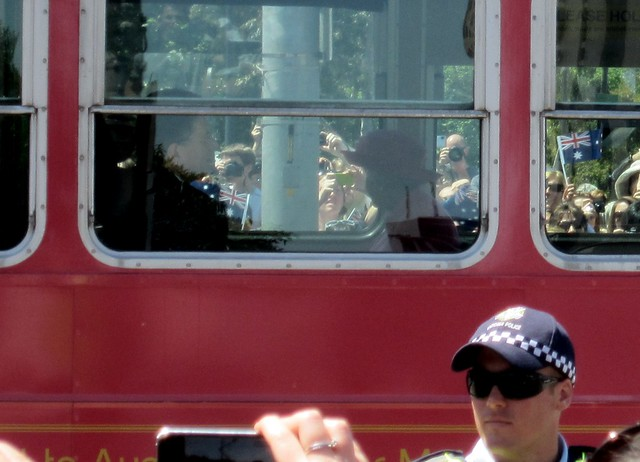 The Queen on the tram