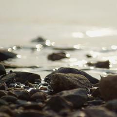 Evening by the sea (martinalinnea) Tags: sea glitter evening stones bohusln ljungskile fav10 ulvn