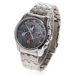 KAQI Unisex Mechanical Watch w/ Automatic Calendar & Week & Time Setting