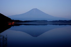 Reflection of Mt.Fuji (peaceful-jp-scenery) Tags: evening highland    hdr mtfuji asagiri     laketanuki dslra900 sal2470z blinkagain bestofblinkwinners variosonnart2470mmf28za