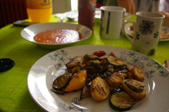 276/365 Verduras asadas y gazpacho (Vegan)