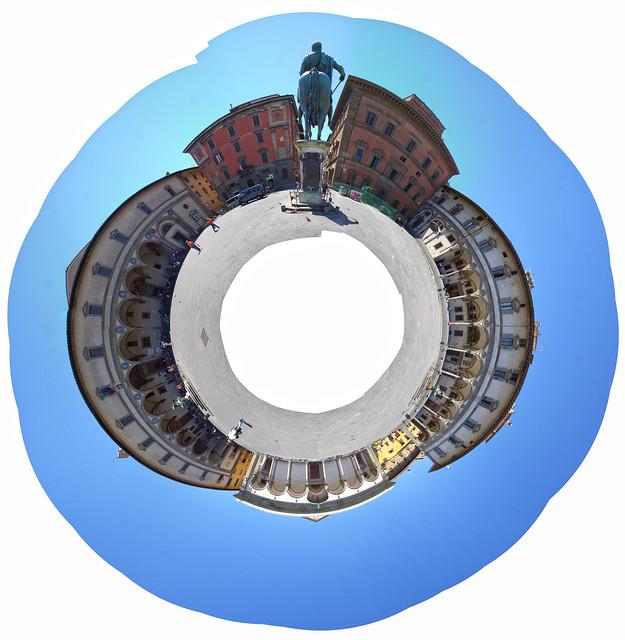 Сферическая панорама Piazza della Santissima Annunziata