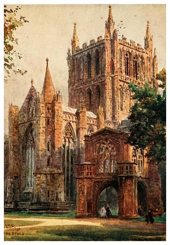 020- Catedral de Hereford- Cathedral cities of England 1908- William Wiehe Collins