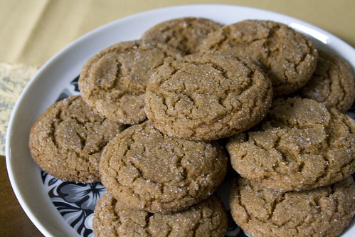 you could buy in a bag at your local grocery store Gingersnaps
