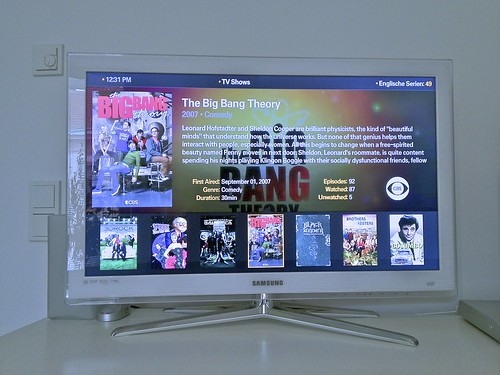 Plex Mediacenter App auf dem Samsung TV