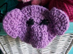 Elephant hair clip (Mooy) Tags: elephant cute animal purple crochet kawaii hairclip
