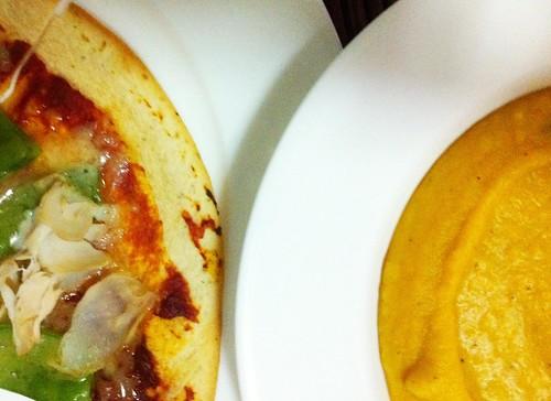 Soup & Pseudo-pizza by mjd-s