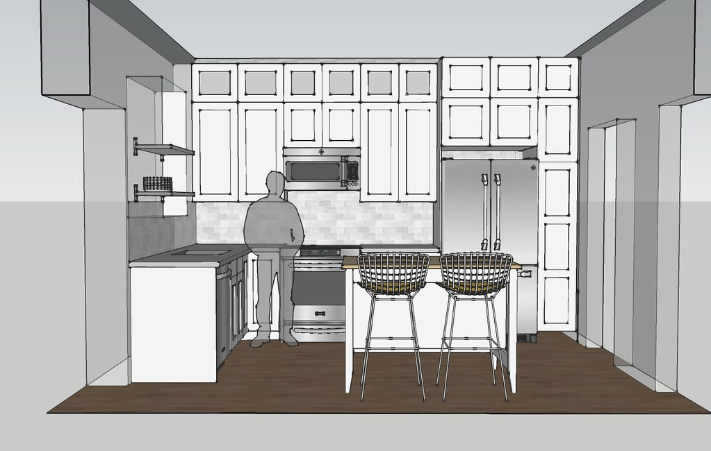 white kitchen elevation c