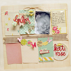 Kati Rose layout (Danielle F.) Tags: baby scrapbooking layout octoberafternoon