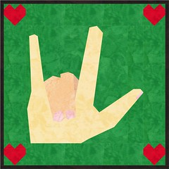 Love You Sign Language Black And White Asl i love you quilt mockAsl I Love You Black And White