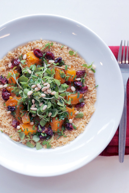 Pumpkin, Cranberries and Watercress Couscous