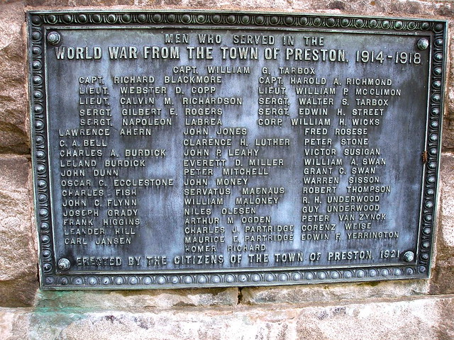 PRESTON CITY - WW1 MEMORIAL