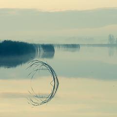 In square II (warmianaturalnie) Tags: morning lake reflection water sunrise square landscape warmia jezioro kwadrat