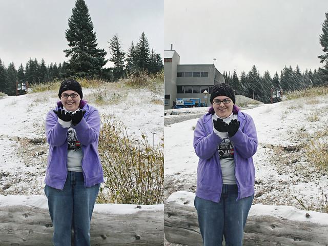 Salt Lake City snow diptych 1