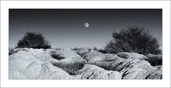 Tierra desnuda III (jbaleriola) Tags: españa luna murcia nocturna badlands fortuna ramblas aridez ecosistemas