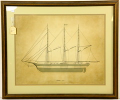 182. Antique Schooner Print